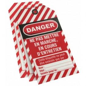 Étiquettes de consignation -  plastifiée - avec œillet métal FTH THIRARD