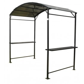 Carport anthracite - structure acier - toit polycarbonate - CAR 1527 AL FORESTA
