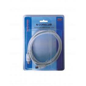 Câble coaxial IEC - mâle/femelle - 2m EVICOM