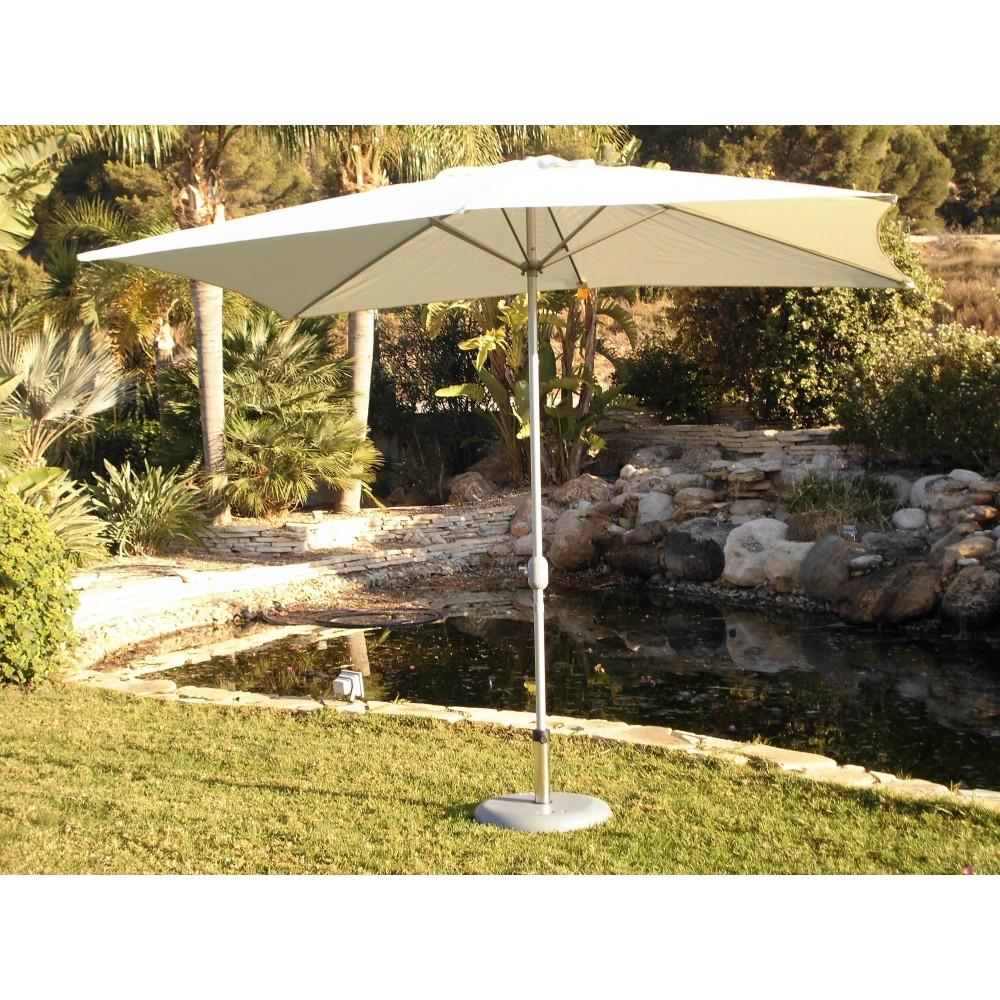parasol droit toile rectangulaire beige cru h ritage indoor outdoor bricozor. Black Bedroom Furniture Sets. Home Design Ideas