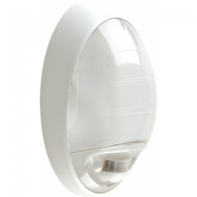 Plafonnier halogène ovale avec détection infrarouge - Atoll EBENOID