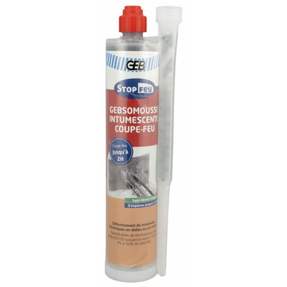 Mousse polyur thane bi composante coupe feu 210 ml geb bricozor - Mousse polyurethane projetee prix ...