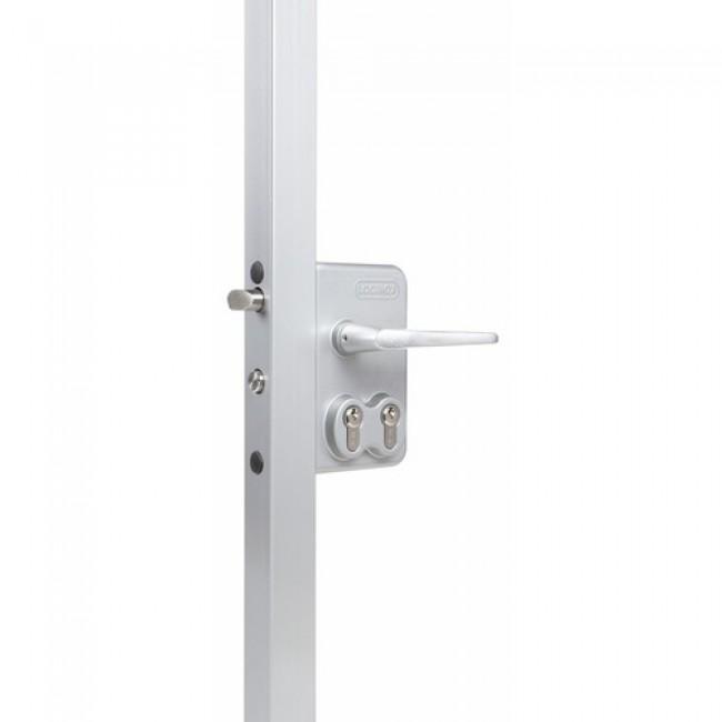 Serrure de portail battant - double cylindre - accès pompiers - LDKZ D1 LOCINOX