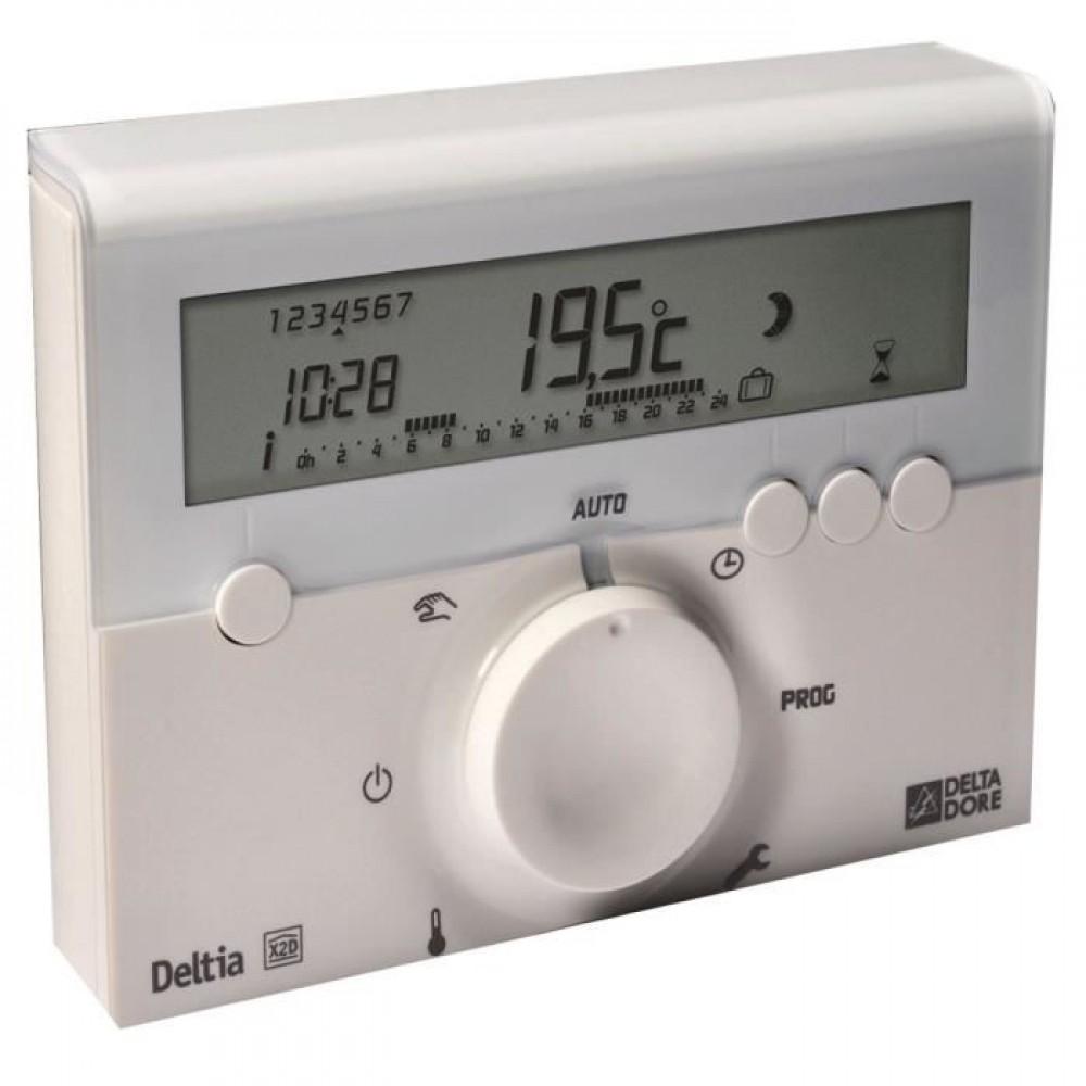 thermostat d 39 ambiance lectronique filaire deltia 8 delta dore bricozor. Black Bedroom Furniture Sets. Home Design Ideas