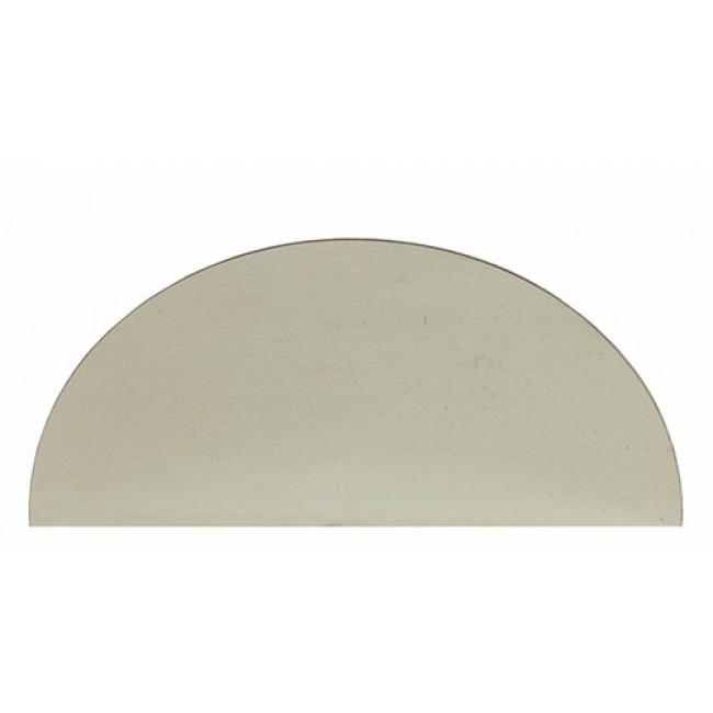 Plaques de propreté aluminium demi-lune, 150x300mm BRICOZOR