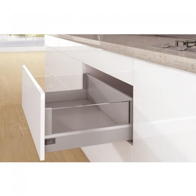 Kit tiroir DesignSide ArciTech-profil H94-dos H218mm-argent HETTICH
