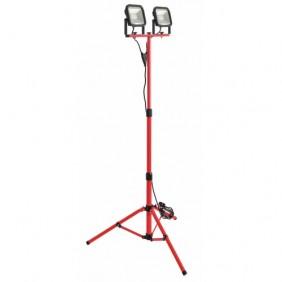 Projecteur de chantier - LED - extra plat - double - sur pied LUCECO