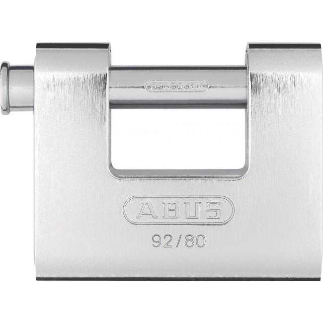 Cadenas à clé - rectangulaire - laiton gainé d'acier -78 mm - 92/80 ABUS