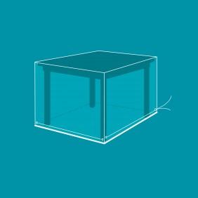 Housse de protection ensemble table rectangulaire + chaises - 175x107x71 cm VERT AZUR
