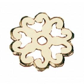 Rosace fleurie pour poignée 2 attaches 1279 et 2020 DUBOIS