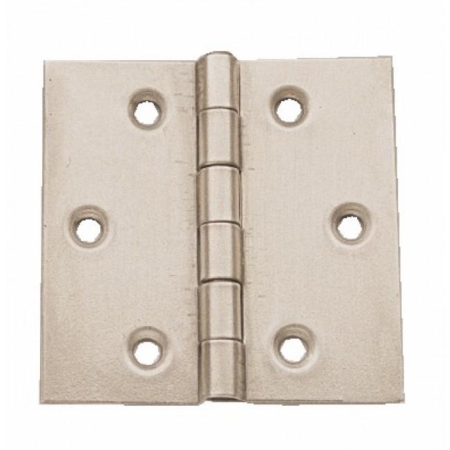 Charnière carrée en acier décapé - double feuille BRICOZOR