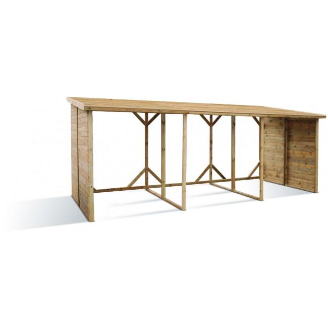 abri b ches en bois xxl 10 st res jardipolys bricozor. Black Bedroom Furniture Sets. Home Design Ideas
