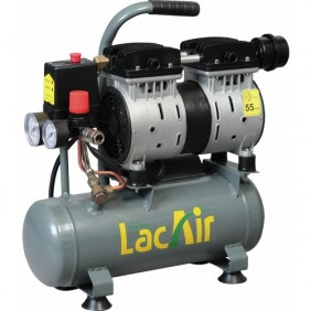 Compresseur d'air à piston silencieux 6 litres 0,75 CV - Silent 6/6SH Lacmé
