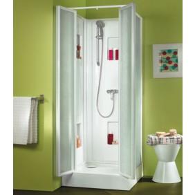 Cabine de douche 80x80 cm - accès de face par portes battantes - Izibox LEDA