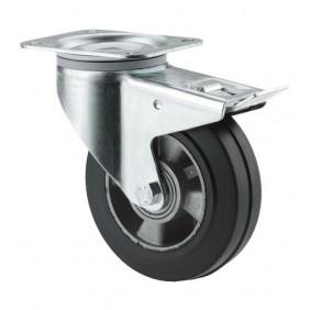 Roulettes pivotantes à blocage - fixation platine - Série 3477 IEP TENTE