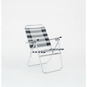 Lot de 2 fauteuils inclinables -  rayé bleu – Camelia 190 HEVEA