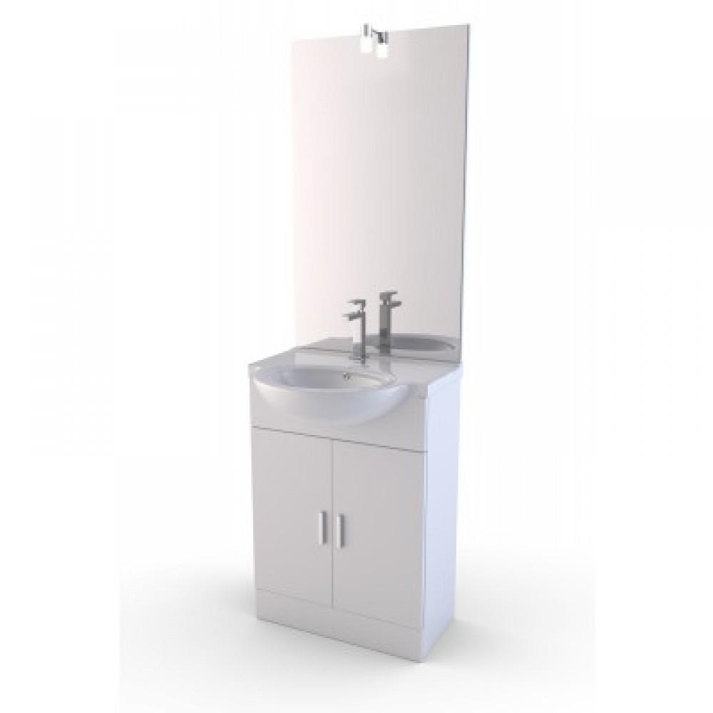 Meuble de salle de bains - trois dimensions - 1 ou 2 vasques - Eco AURLANE  sur Bricozor