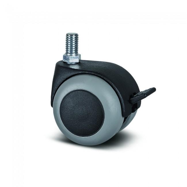 Roulette pivotante à frein table et bureau - tige - ø50mm - Lumina TENTE
