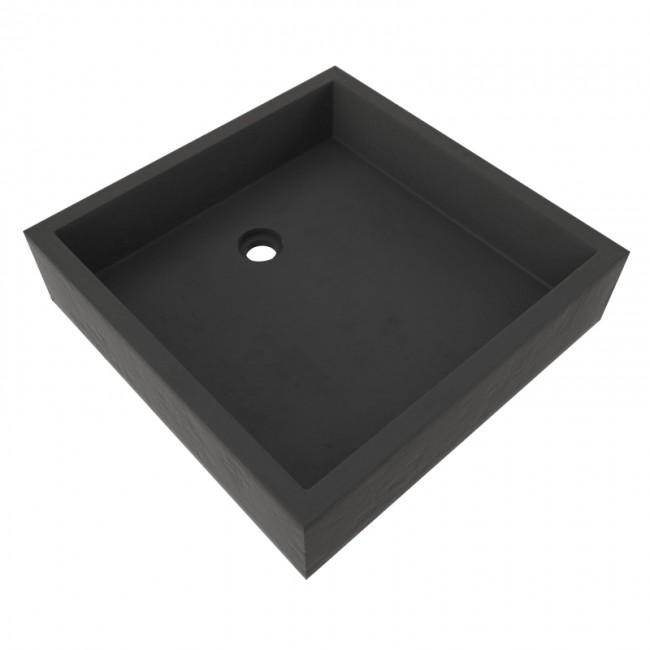 Timbre Vasque - résine - carrée 40x40x10cm AURLANE
