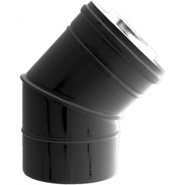Coude à 45° pour poêle à granulés étanche Bioten - diamètre 80x125 TEN