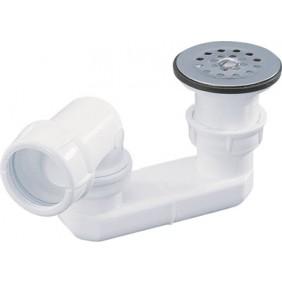 Bonde de douche orientable à grille inox - sortie horizontale NICOLL