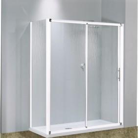 Porte coulissante 2 panneaux verre transparent Lunes - 114 à 120 cm NOVELLINI