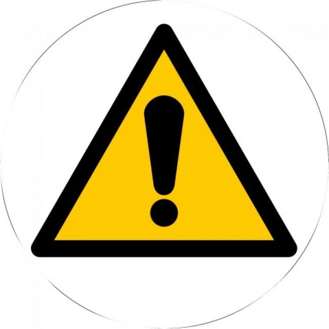 Triangles d'avertissement adhésifs au sol NOVAP