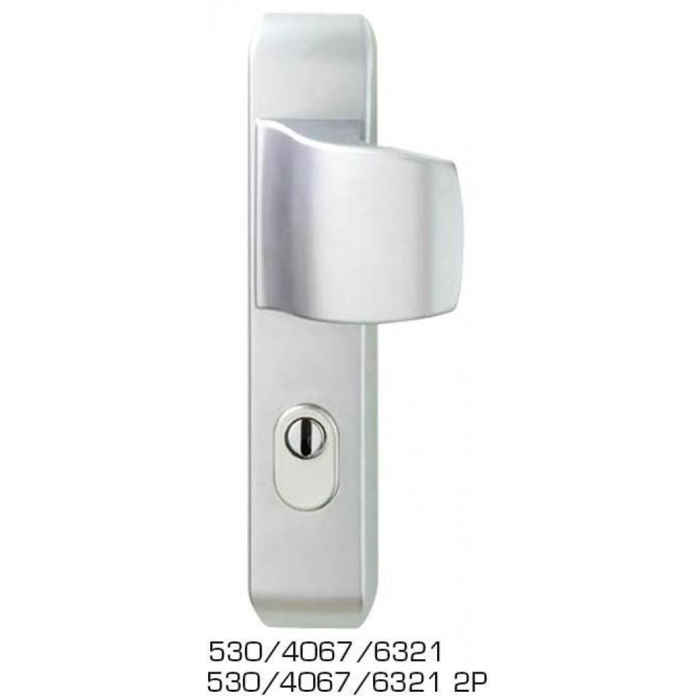 Poignée de porte palière de sécurité Jazz 2 piliers VACHETTE   Bricozor ef44e58476c