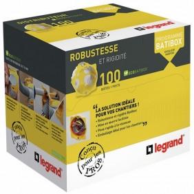 Distributeur 100 boîtes d'encastrement 1 poste - Ecobatibox - BBC LEGRAND