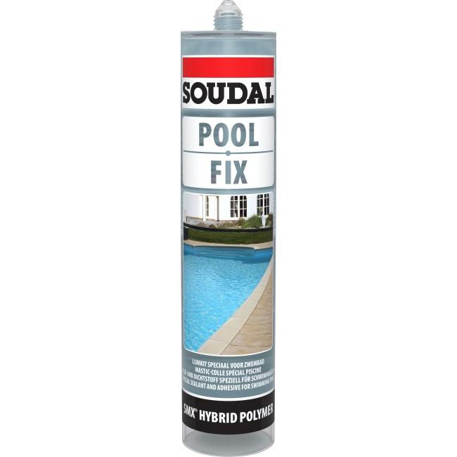 Mastic-colle hybride polymère - pour composants de piscine - POOL FIX SOUDAL