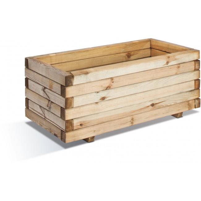 Jardinière en bois - 62 litres  - 80 x 40 cm - Stockholm 40 JARDIPOLYS