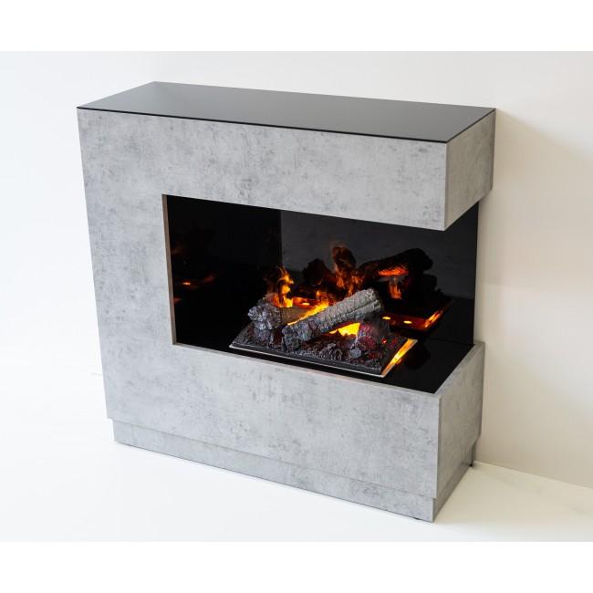 Cheminée décorative - ZEN - blanc ou bêton - pour cassette 400 LED GLEN DIMPLEX