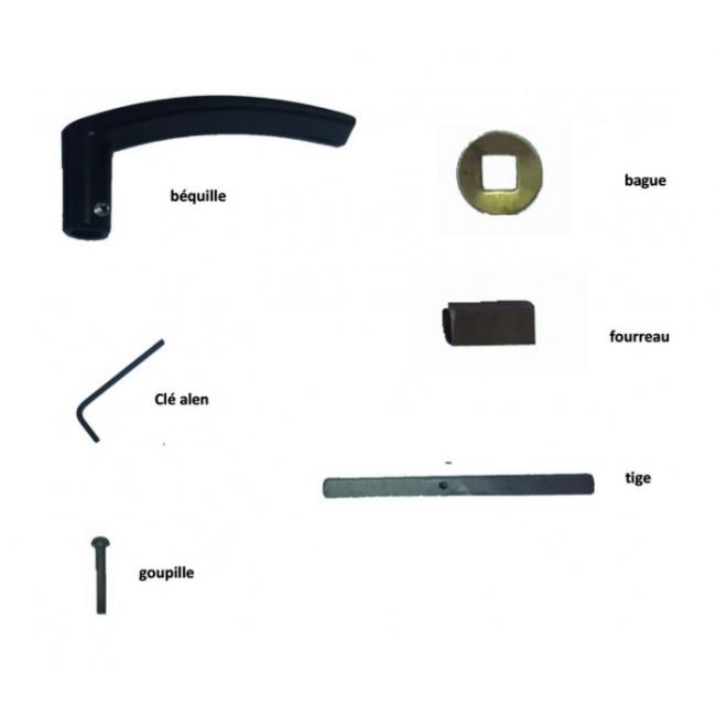 Kit d'adaptation - pour pose avec serrure en applique - Bicode DUBOIS INDUSTRIES