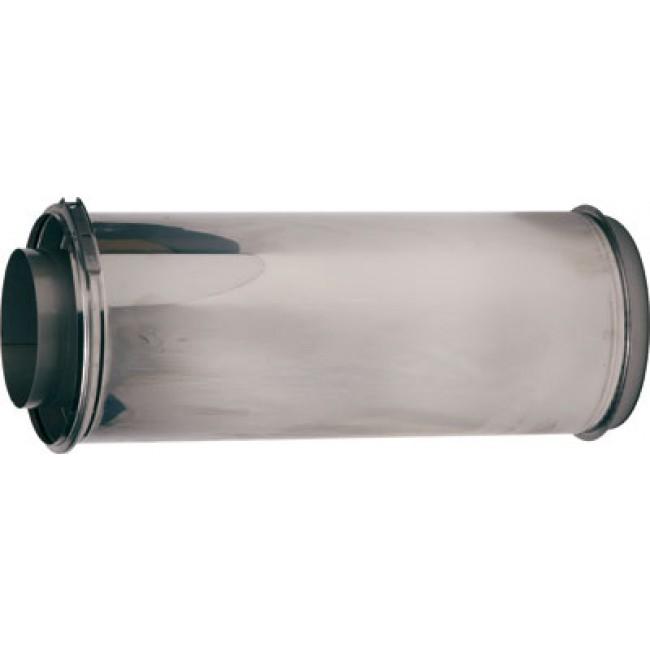 tubage rigide double paroi inox avec bride de s curit longueur 0 5 m bricozor. Black Bedroom Furniture Sets. Home Design Ideas