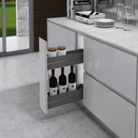 Ferrure pour meuble bas 7102K Ikona - paniers porte-épices INOXA
