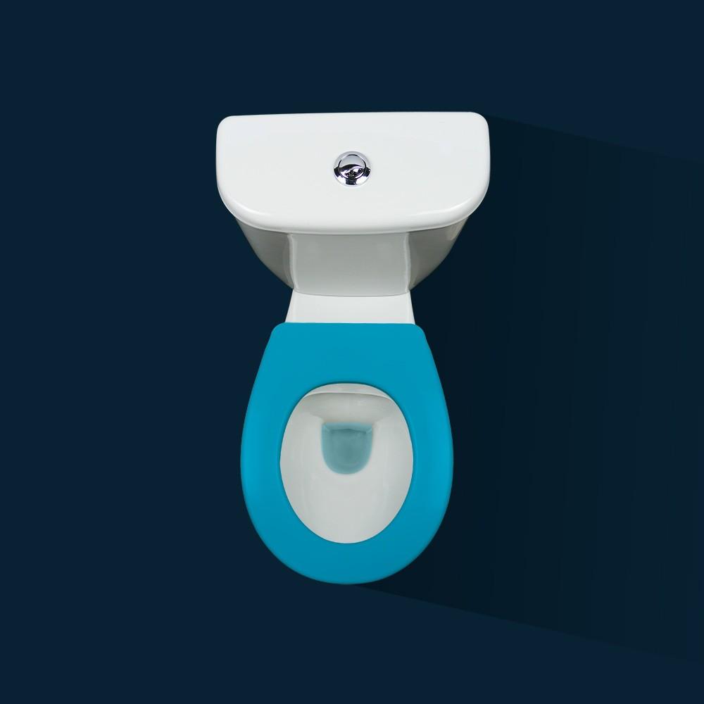 lunette wc clipsable 100 hygi nique bleu papado bricozor. Black Bedroom Furniture Sets. Home Design Ideas