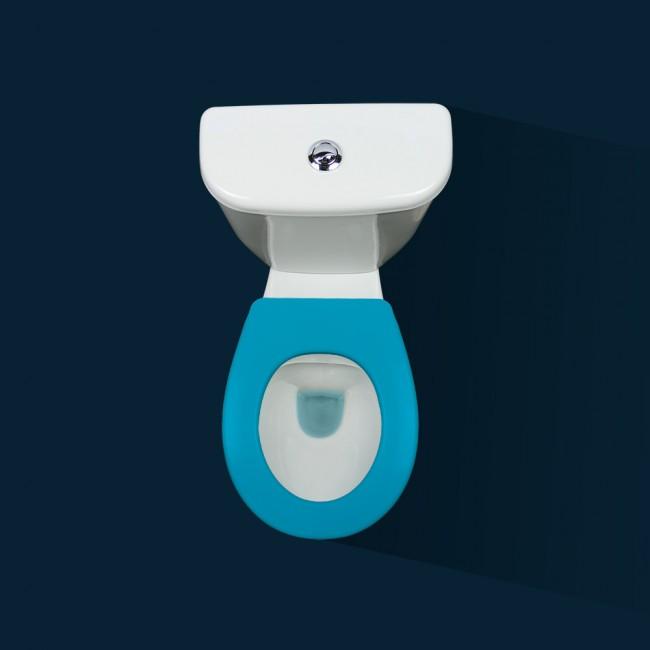 Lunette wc clipsable - 100 % hygiénique - bleu PAPADO