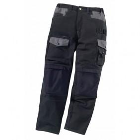 Pantalon de travail Work Attitude-noir/gris LAFONT