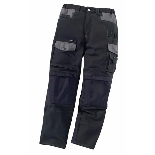Pantalon de travail Work Attitude-noir/gris
