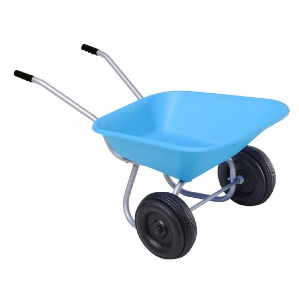 brouette enfant bleue 2 roues mini haemmerlin bricozor. Black Bedroom Furniture Sets. Home Design Ideas