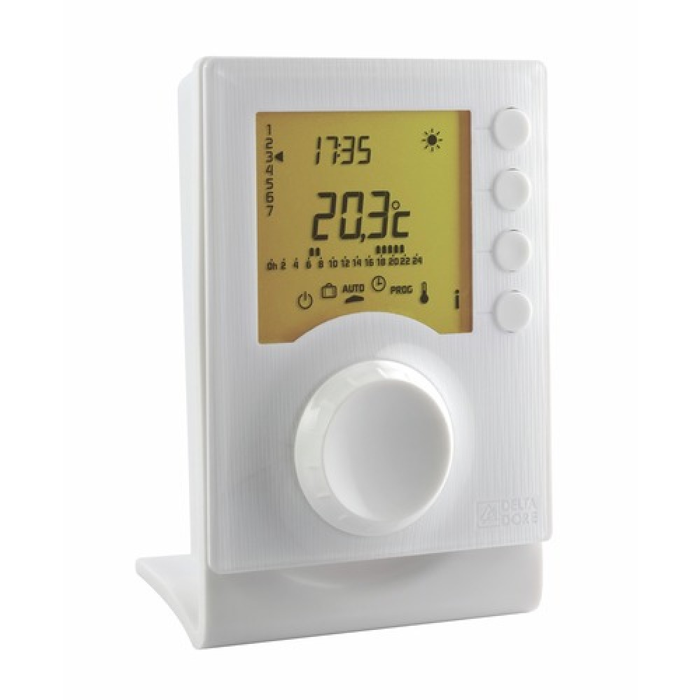 Thermostat digital programmable sans fil tybox 137 delta dore bricozor - Thermostat d ambiance programmable sans fil ...