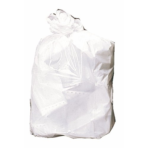 Sacs poubelle blanc 20 litres, 24 microns (x1000)