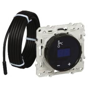 Thermostat fil pilote à écran tactile noir - Odace SCHNEIDER