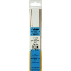Brasure 231 B capillaire à haute teneur en argent : 40% nue NEVAX