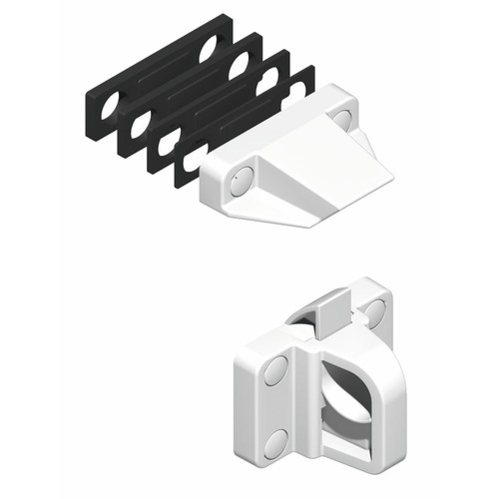 loqueteau composite pour ch ssis pvc blanc la crois e ds bricozor. Black Bedroom Furniture Sets. Home Design Ideas
