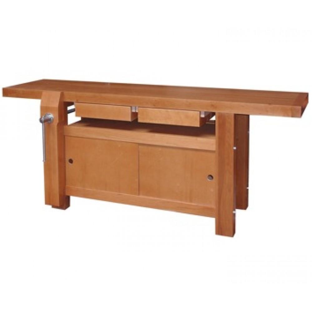 tabli bois menuisier professionnel 2 m 2 tiroirs. Black Bedroom Furniture Sets. Home Design Ideas