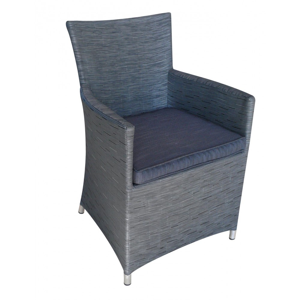 fauteuil de jardin aluminium et textil ne gris antracite fig bricozor. Black Bedroom Furniture Sets. Home Design Ideas