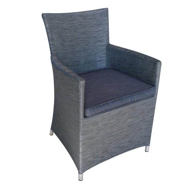 Fauteuil de jardin aluminium et textil ne gris antracite for Fauteuil jardin gris