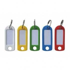 Porte clé à étiquette - 100 pièces - 5 coloris assortis BRICOZOR