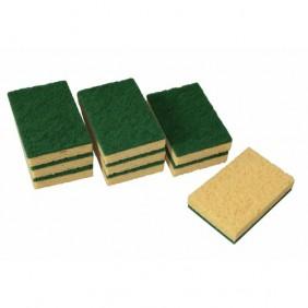 Éponge végétale grattante - lot de 9 éponges abrasives BRICOZOR